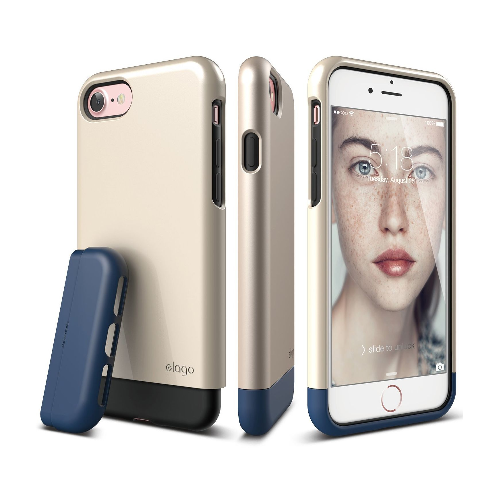 elago® Glide Case for iPhone 7Champagne Gold / Jean