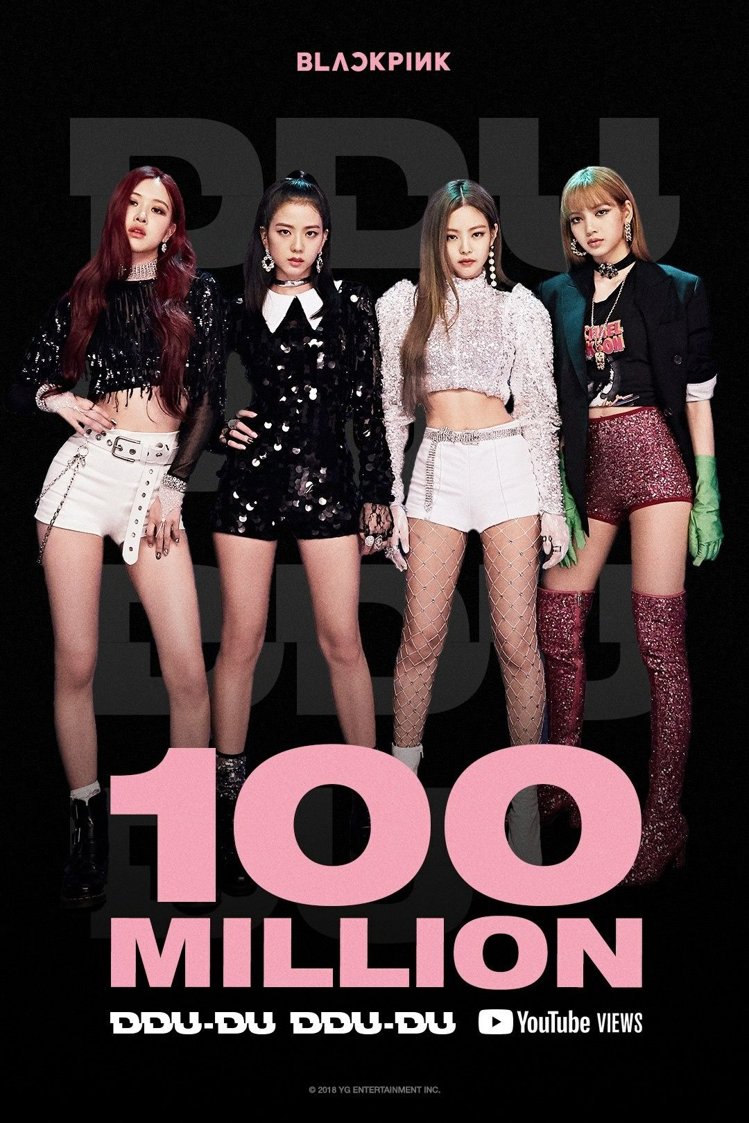 Congratz on 100m views on YouTube #blackpink #ddududdudu