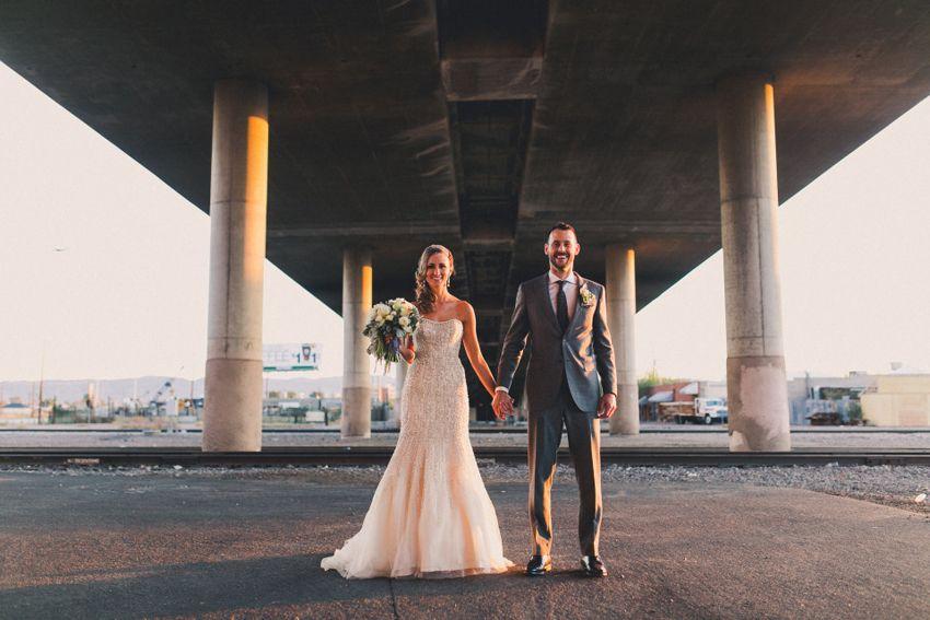 A Chic Downtown Phoenix Wedding Bride And Groom Arizona Inspiration