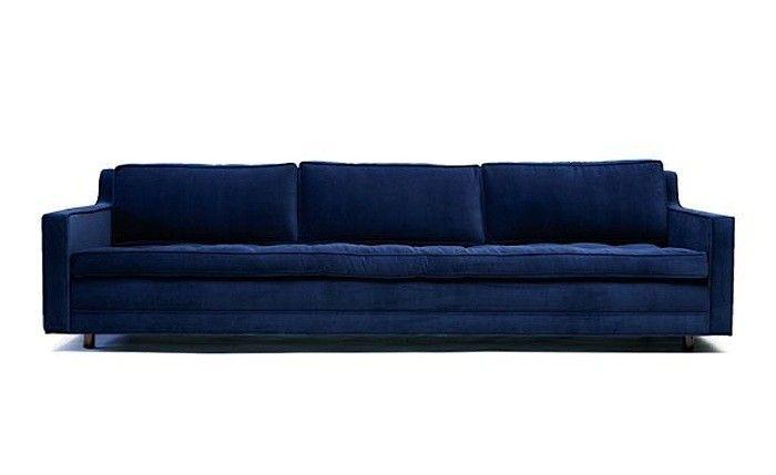 spelndid navy blue velvet sofa. 10 Easy Pieces  The Blue Velvet Sofa Luxe Edition Remodelista velvet