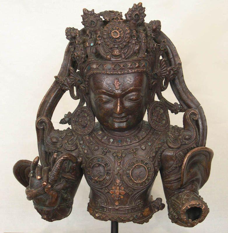 Guardian Deity   Tibet; Densatil Monastary  15th c.  cast copper