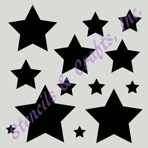 "STAR STENCIL MANY SIZES STARS PAINT CELESTIAL CRAFT ART TEMPLATE 8/"" X 10/"" NEW"