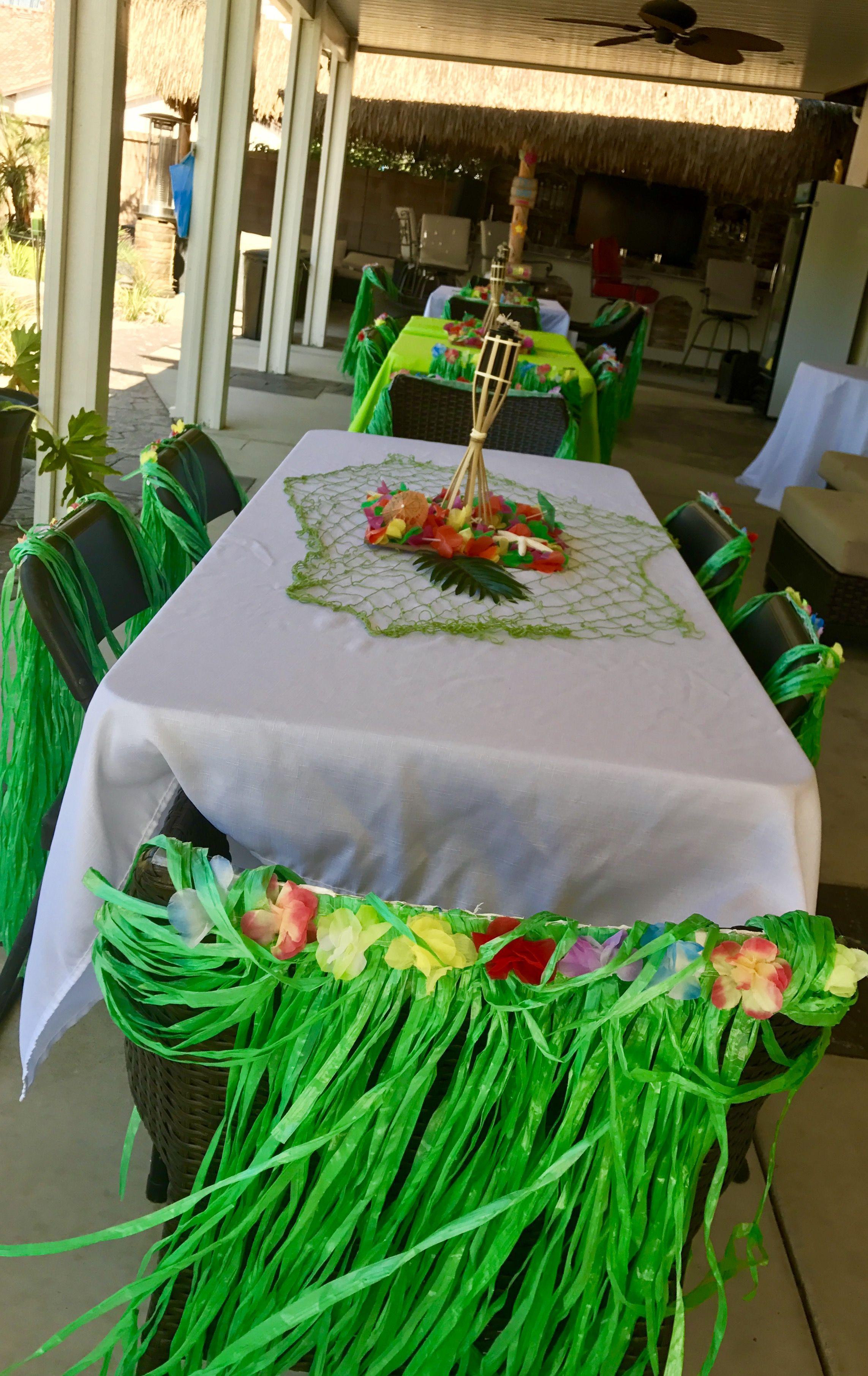 Luau Table Set Up Luau Decoration Ideas Luau Decorations Table Decorations Decor