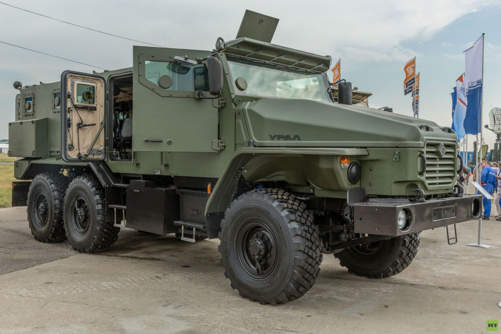 Russian Military Truck Ural Typhoon Front Three Quarters