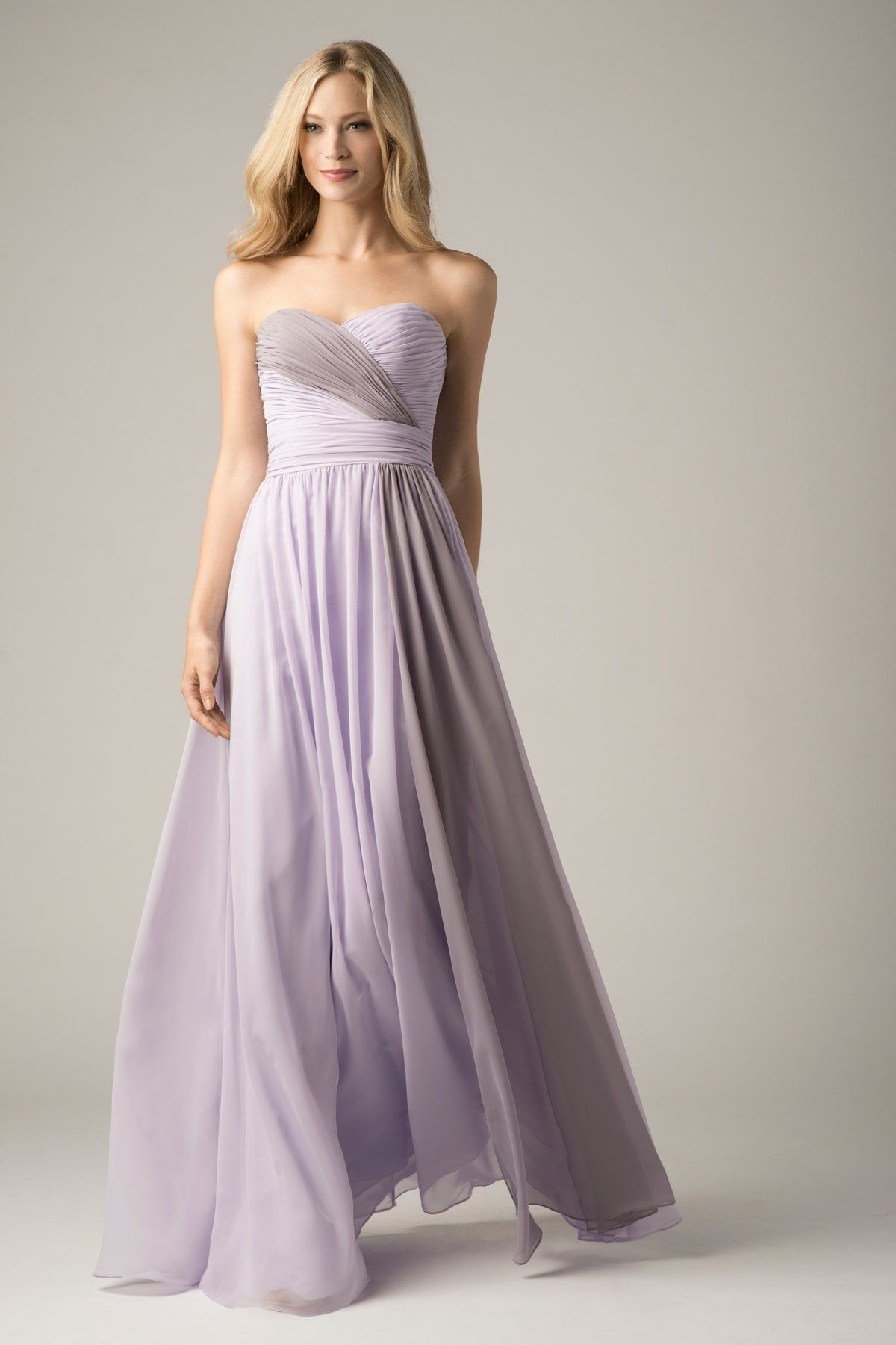 Wishesbridal lavender chiffon sweetheart floor length a line