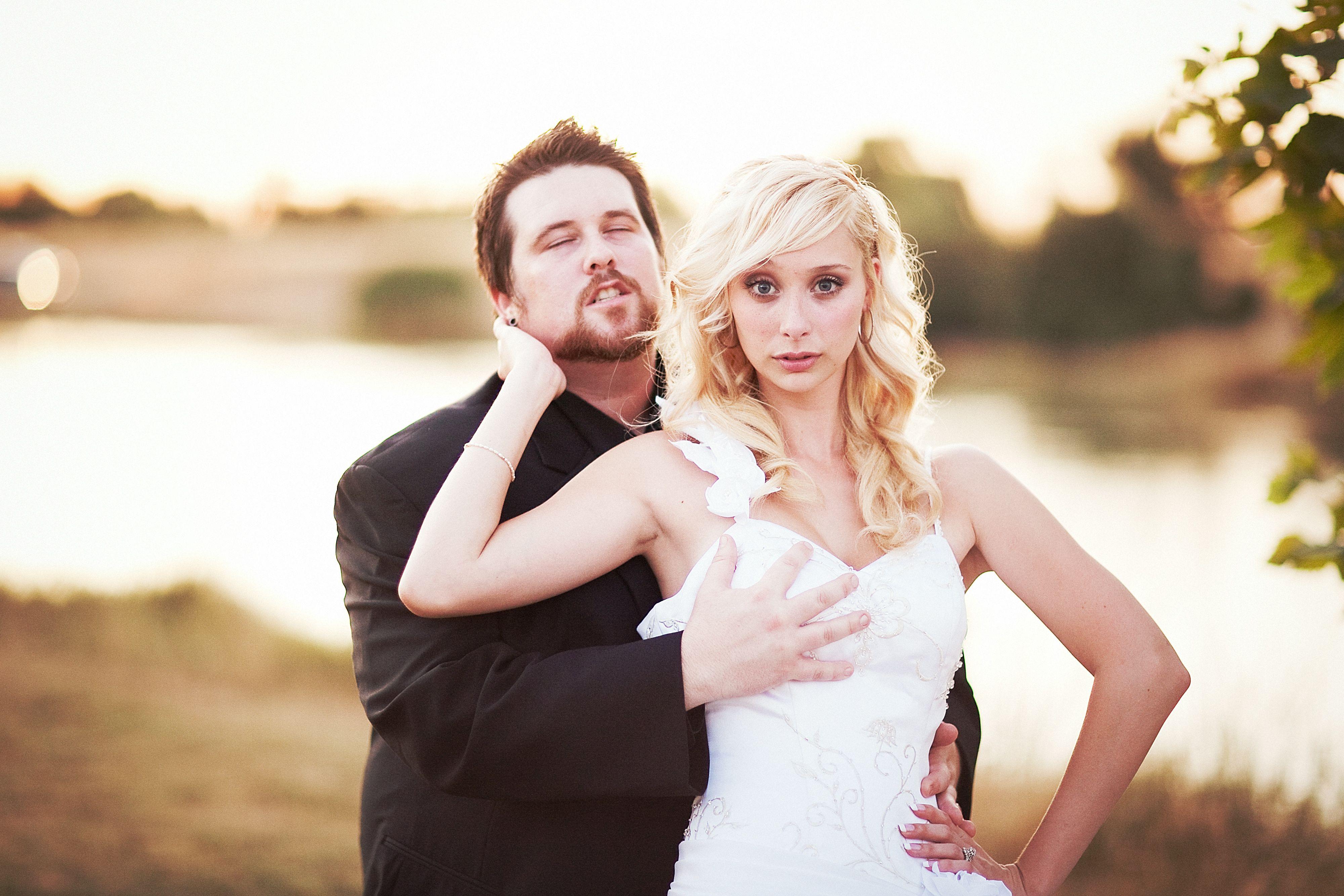Hilarious Wedding Pose Photo By Heather Elizabeth