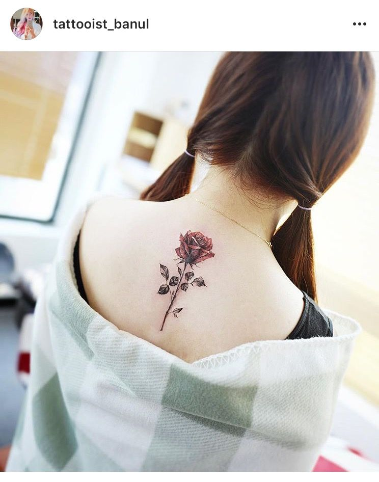 Rose Down Middle Of Back Rose Tattoos For Women Rose Tattoo Rose Tattoos