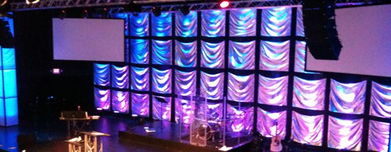 Sheet Squares Church Stage Design