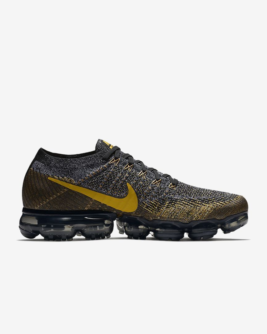 e5d2423c8e5 Discover ideas about Nike Air Vapormax. Right view of Men s Nike Air  VaporMax Flyknit Running Shoes in Dark Grey Reflect Silver Blue Orbit