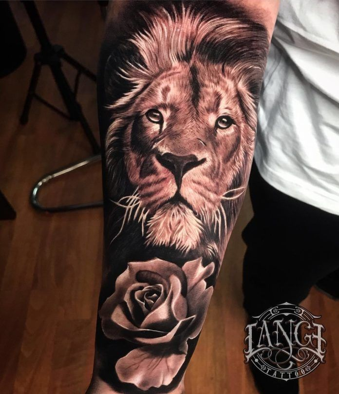 44+ Tatouage de lion sur le bras ideas