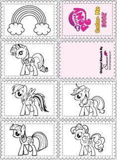 free printable My Little Pony Color Book 3rd Birthday