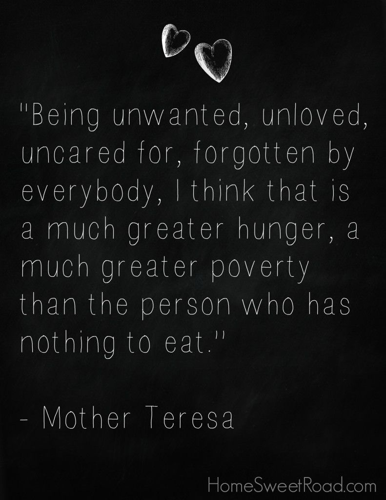 A Mother Teresa quote that really inspires me to help the
