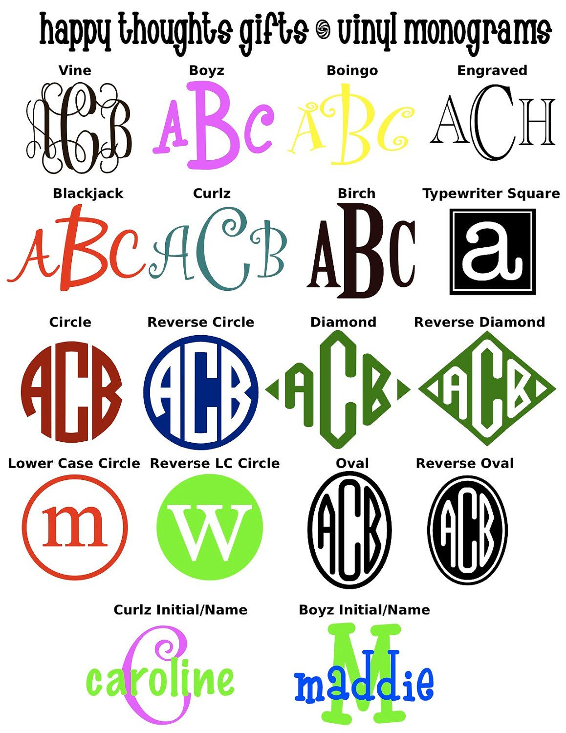 5 Quot Circle Car Monogram Other Fonts Available I Vinyl