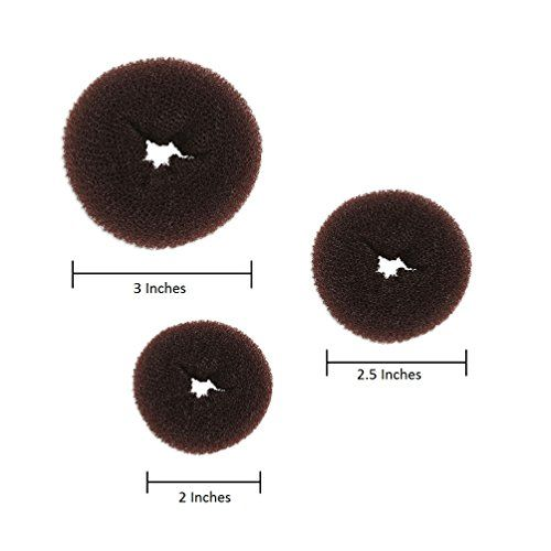 Beaute Galleria - Bundle 3 Pieces Mini Hair Donut Ring Style Bun Maker for Kids Brown Color  //Price: $ & FREE Shipping //     #hair #curles #style #haircare #shampoo #makeup #elixir