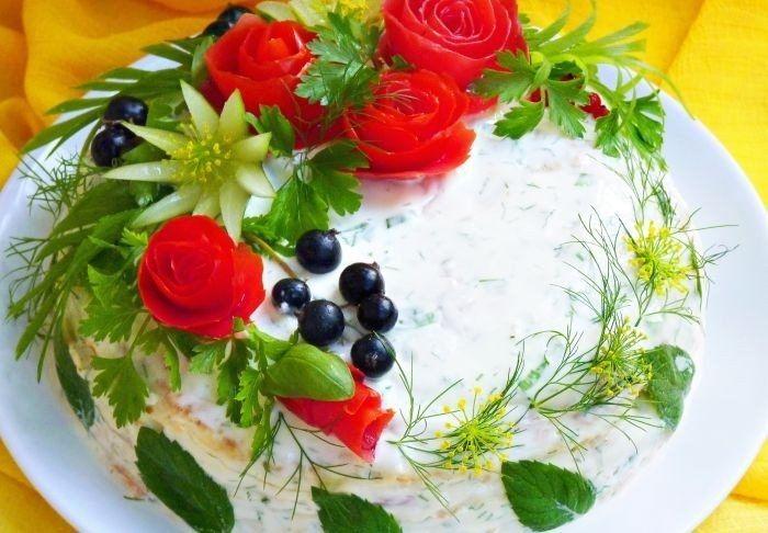 Фото к рецепту: Кабачковый тортик