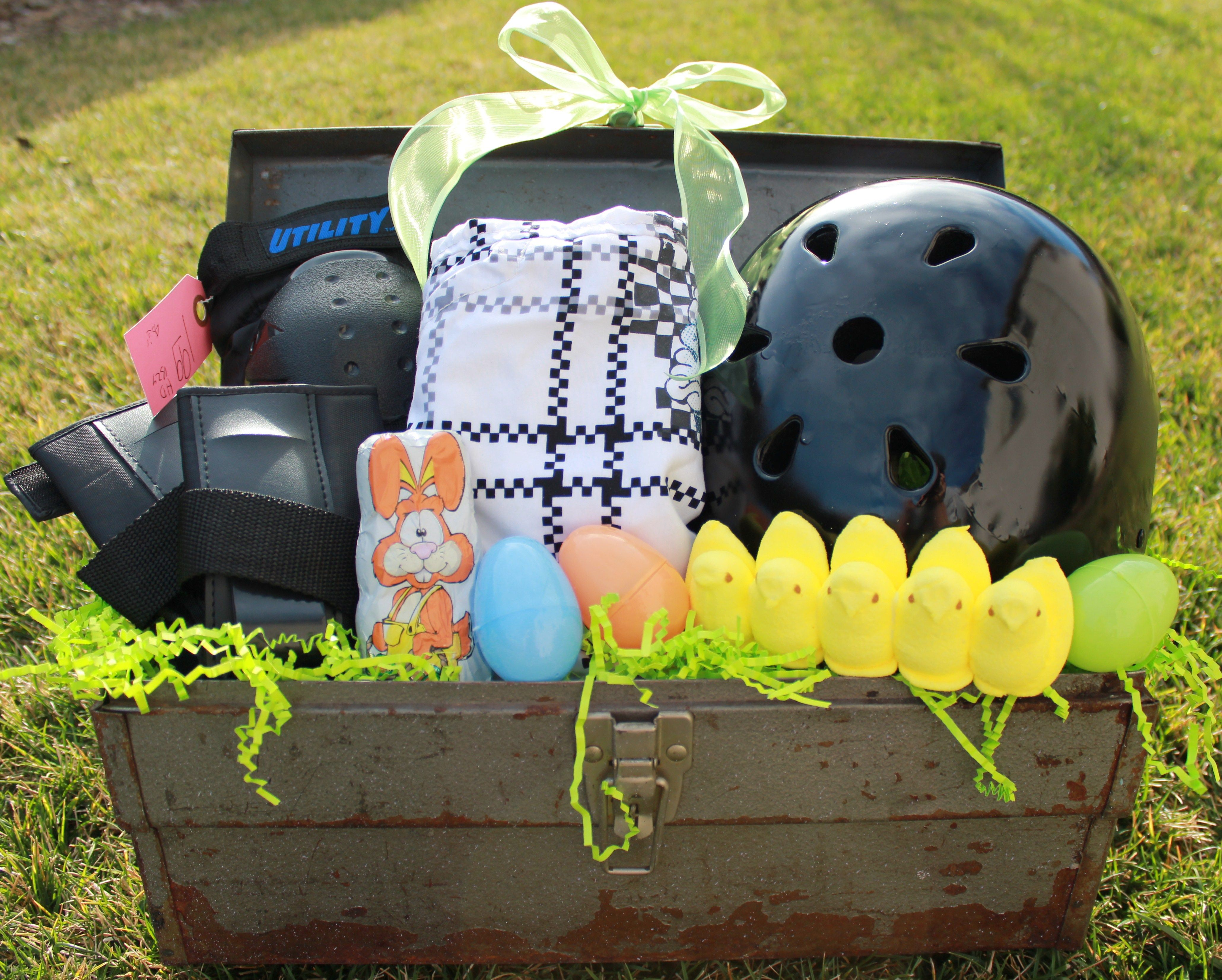 Use a thrifted toolbox to create a super cool boy themed easter use a thrifted toolbox to create a super cool boy themed easter basket this was negle Gallery