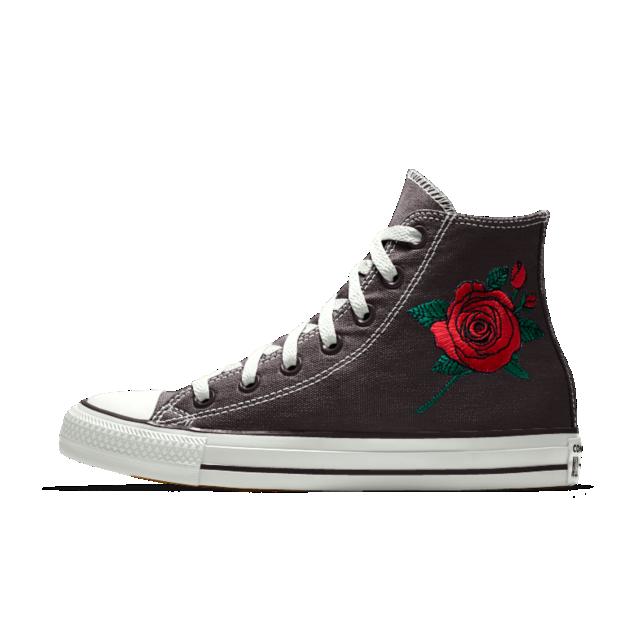 c17d6c5cd9e Converse Custom Chuck Taylor All Star Rose Embroidery High Top Shoe.  Nike.com
