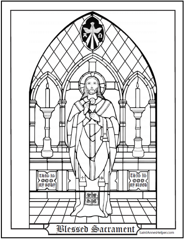 Blessed Sacrament Coloring Page Catholic First Communion Catholic Coloring Catholic Sacraments Catholic Catechism