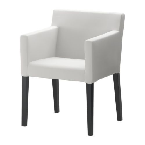 NILS Chair with armrests IKEA Armrests and padded seat and back for enhanced seating comfort. Removable, machine washable cover; easy to keep clean.
