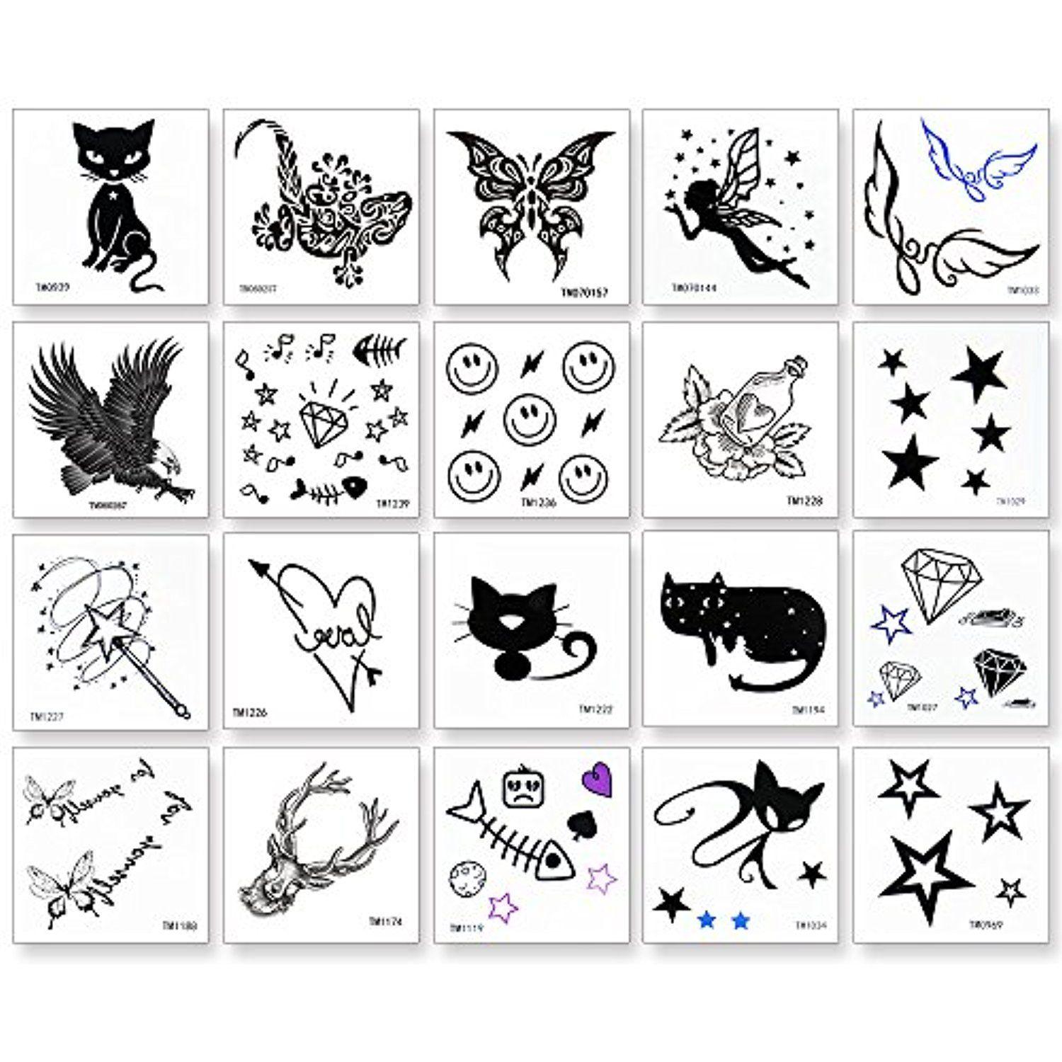 20 Pieces Temporary Tattoo Rose Animals And Butterfly Flash Tattoo Easy To Apply And Long Lasting For Wome Temporary Tattoos Tattoos Large Temporary Tattoos