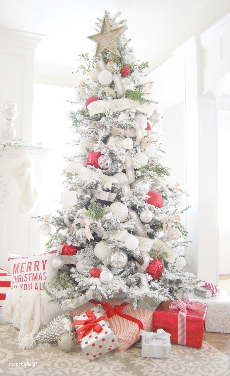 Buy Christmas Tree Near Me Real If Making Your Christmas Tree Look Taller Off F Diy Christmas Decorations Easy White Christmas Decor Christmas Tree Decorations