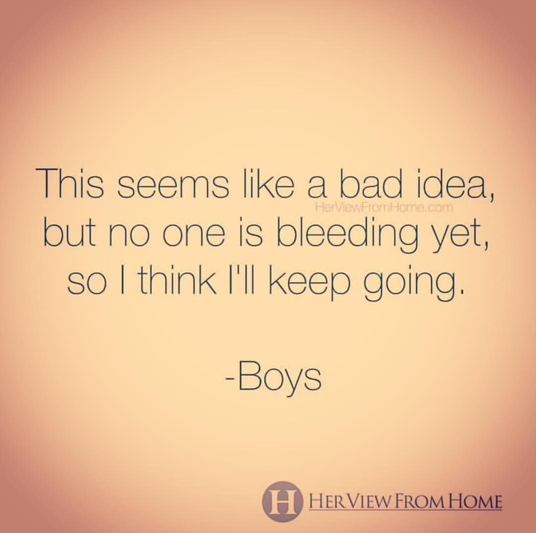 Raising Boys Housewife Plus Ugh Yes This Is Exactly Right From The Fabulous Funny Quotes For Kids Raising Boys Quotes Raising Kids Quotes