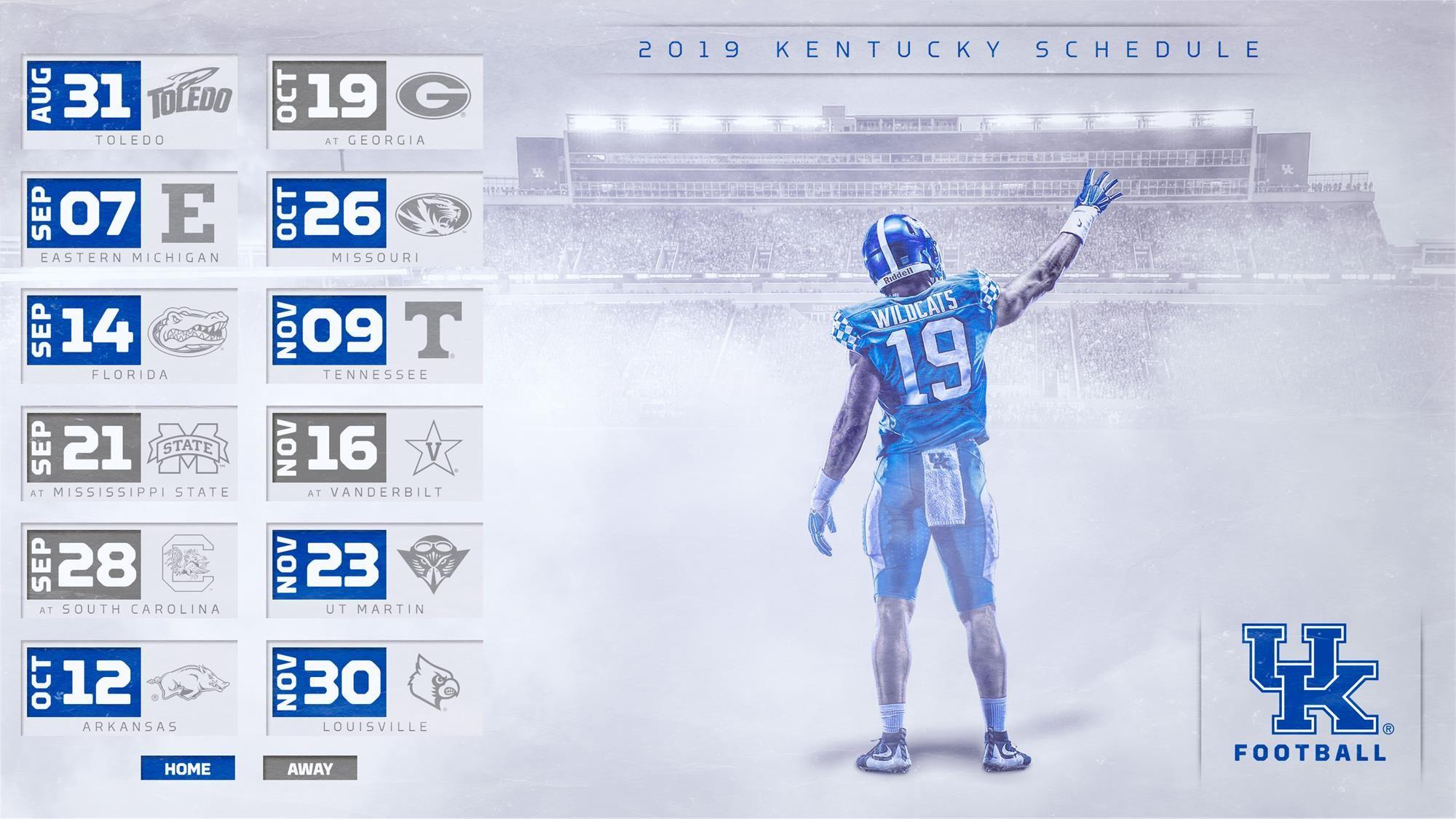 Kentucky Set For Home Heavy 2019 Football Schedule Kentucky