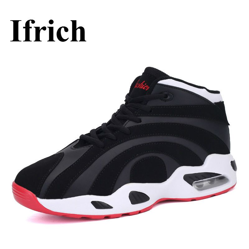 46a6f2eab65 Ifrich Couples Sport Shos For Basketball Good Quality Lovers Athletic Shoes  Black White Men And Women Basketball Sneaker  Affiliate