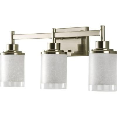 Progress Lighting Alexa Collection 3 Light Brushed Nickel Bath Light P2978 09 At Bathroom Light Fixtures Brushed Nickel Vanity Lighting Bathroom Light Fixtures