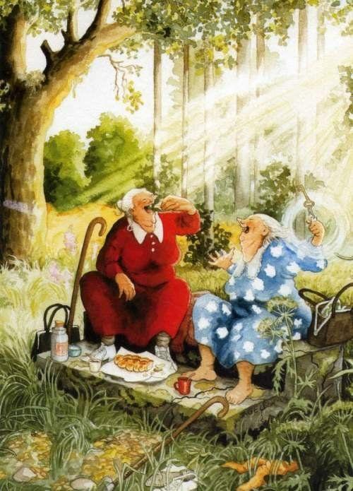 порадуют картинки для декупажа веселые старушки что миндалины