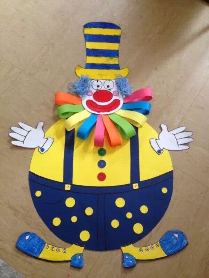 Clown Crafts Art Kids Clowns Toddlers Ideas Para Fiesta Manuel Handmade Cards Series