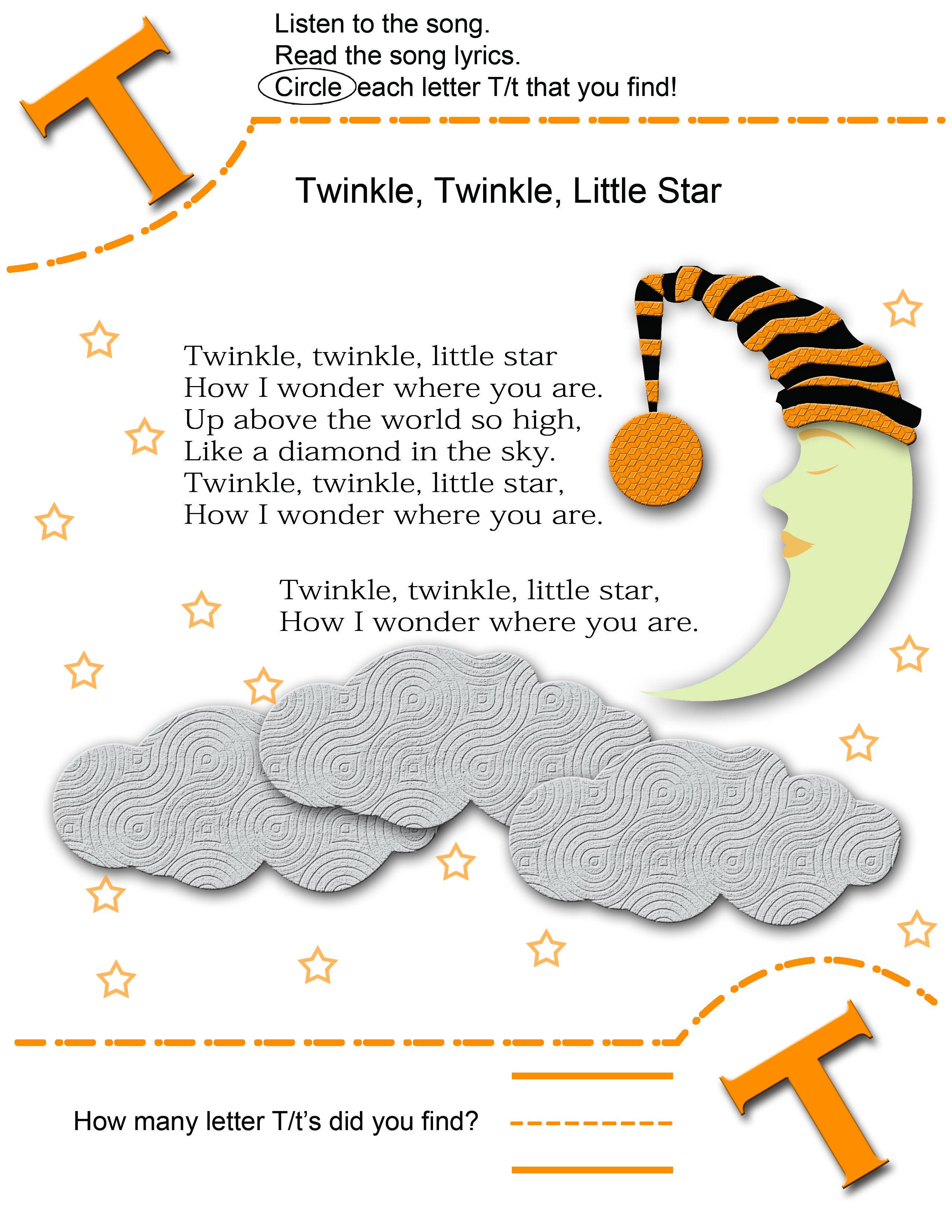 Circle Preschool Letter T Worksheet Circle Best Free