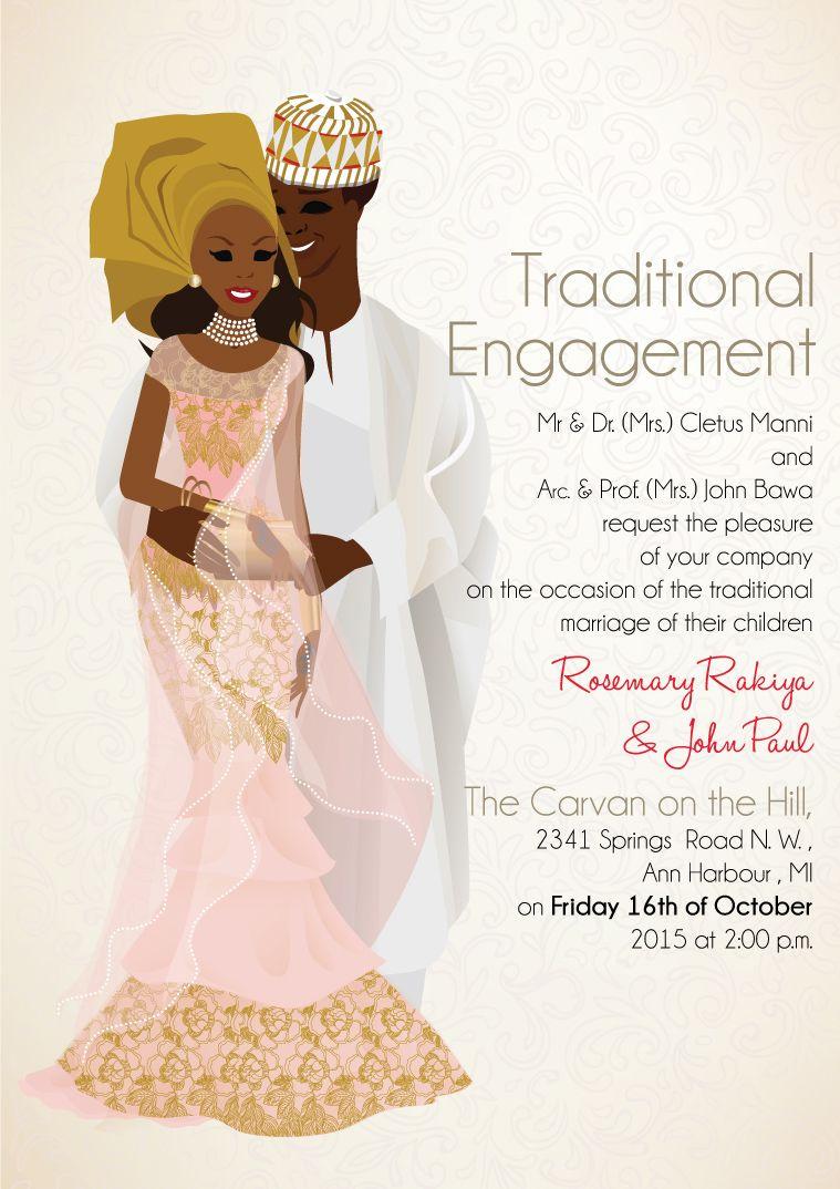 ZUCIYA Nigerian Hausa Traditional Wedding Invitation | Pinterest ...