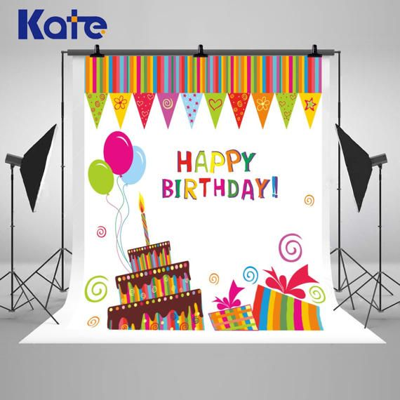 Happy Birthday Card Theme Photography Backdrops by katehome2014