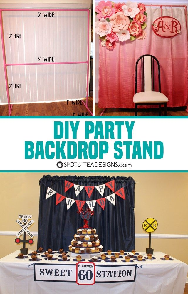 Diy party backdrop stand guest post backdrop stand party diy party backdrop stand dimensions listed and tips on building one spotofteadesigns solutioingenieria Choice Image