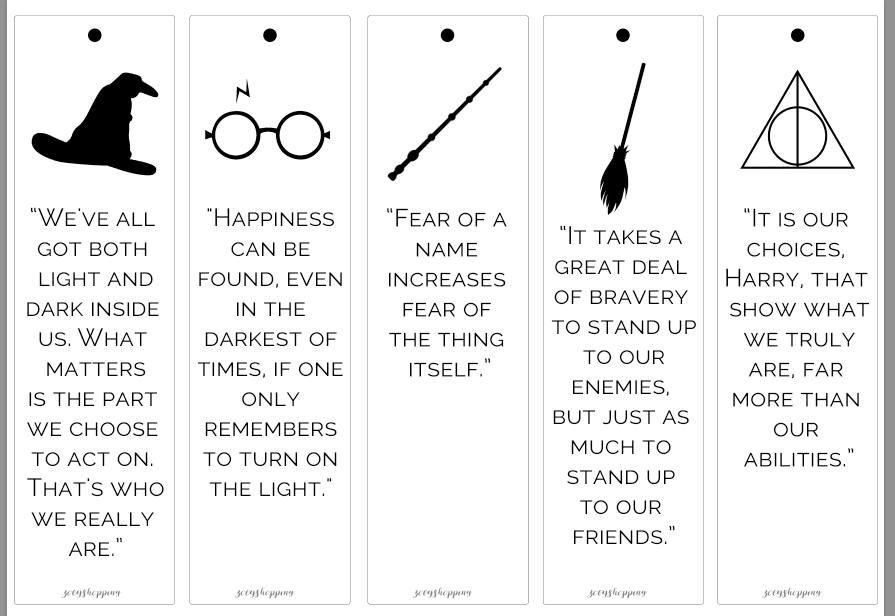 Segnalibri Harry Potter Etsy Segnalibri Disegni Di Harry Potter Harry Potter