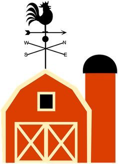cartoon barn red barn clip art out door red fiestas infantiles rh pinterest co uk Barn Scenes Clip Art big red barn clipart