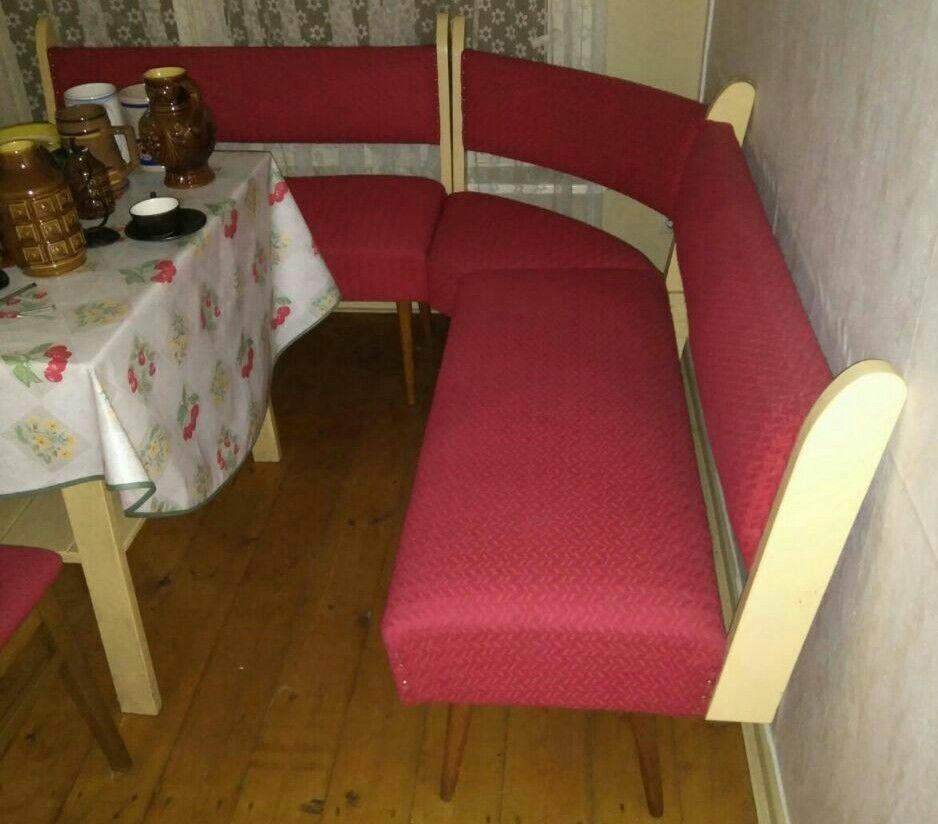 Retro Sitzecke Sitzbank + 2 Stühle Wohnen Küche Essecke Platz ...