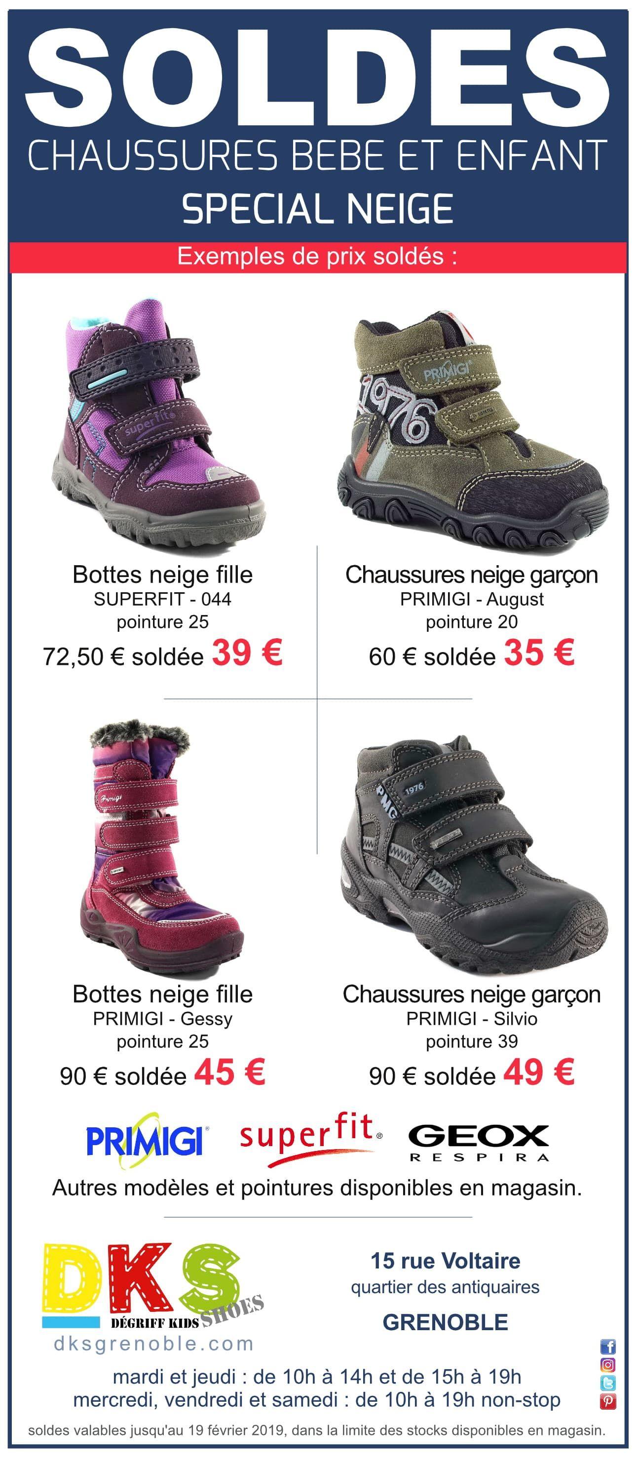 4ecef015dc9c3 SOLDES DKS exemples de prix soldés bottes et chaussures neige pour fille et  garçon. Autres
