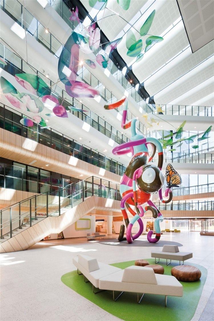 The Royal Children S Hospital Homeadore Hospital Interior Design Hospital Architecture International Interior Design