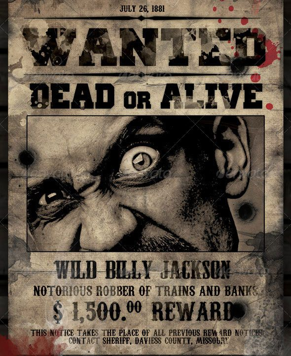 9 Free \ Premium Wanted Poster Templates (PSD) plakater - most wanted poster templates