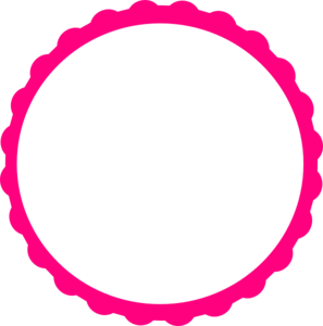 pink scallop circle frame clip art vector clip art online royalty rh pinterest com circle clip art free circle clipart of tree of life