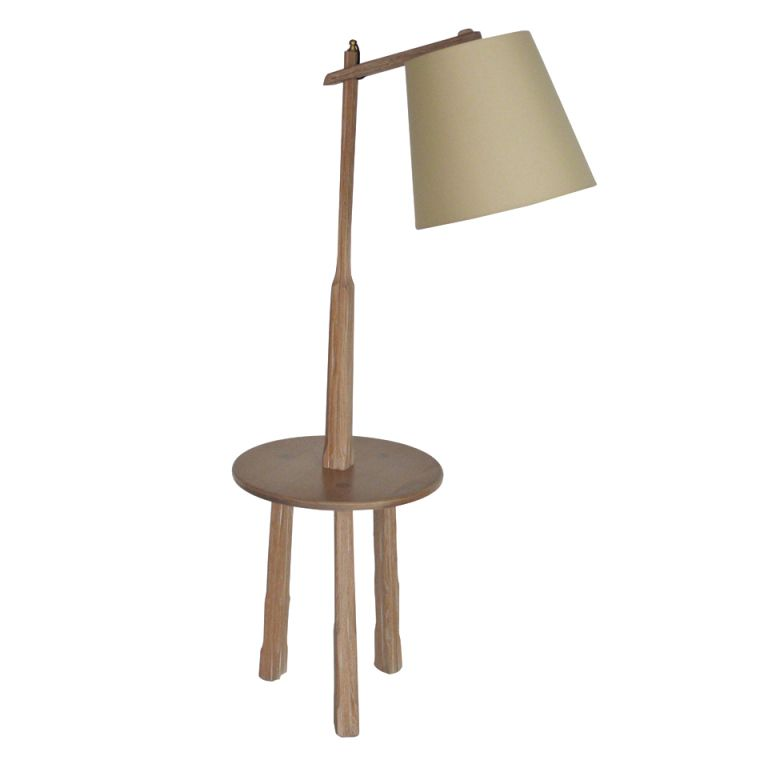 Oak floor lamp with table by brandt ranch floor lamp ranch and tables lamp table mozeypictures Image collections