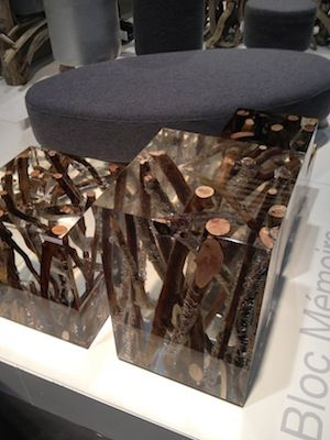 Lucite/Wooden blocks. Are they for sitting? No one knows. But they are cool!