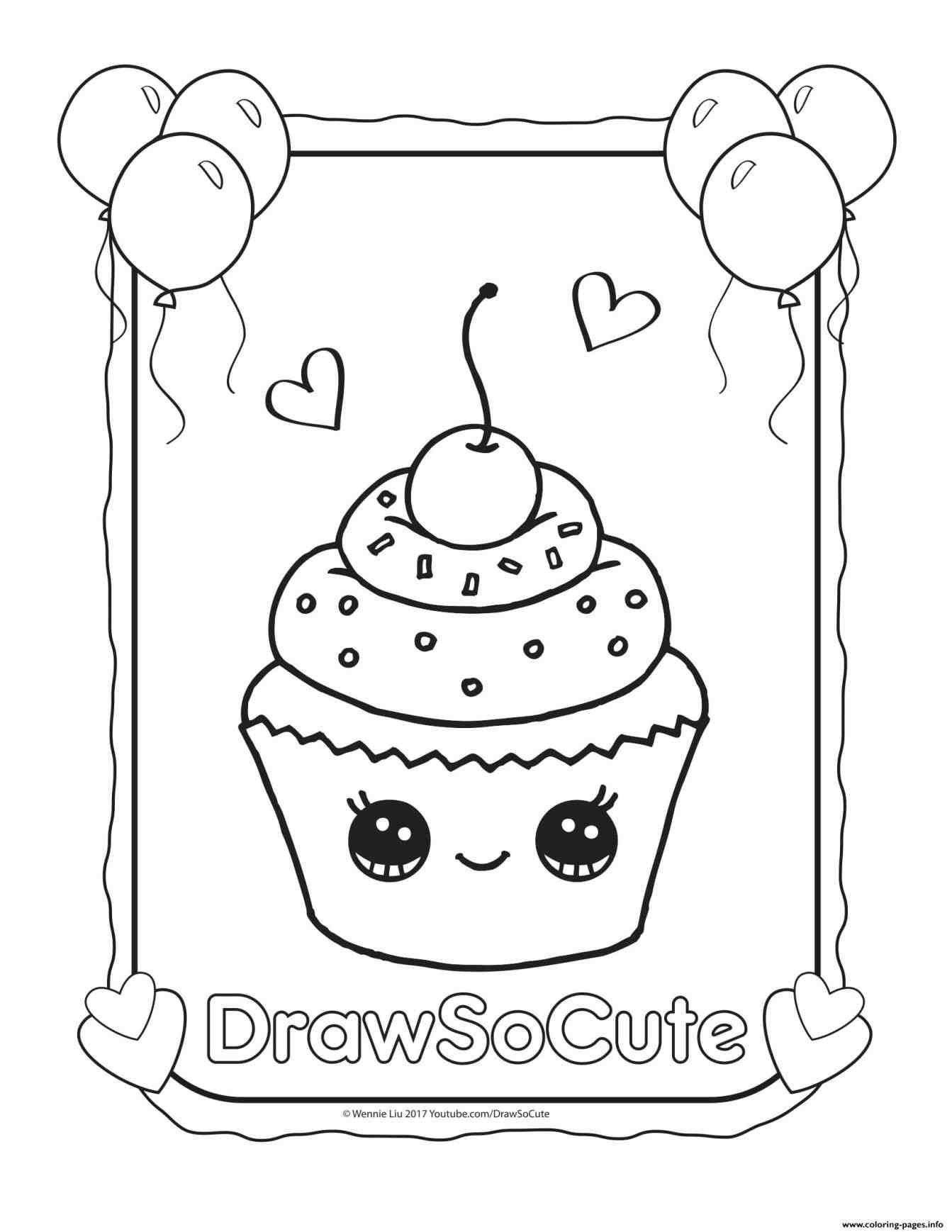 Unicorn Cake Coloring Page Youngandtae Com In 2020 Food Coloring Pages Cute Coloring Pages Cupcake Coloring Pages