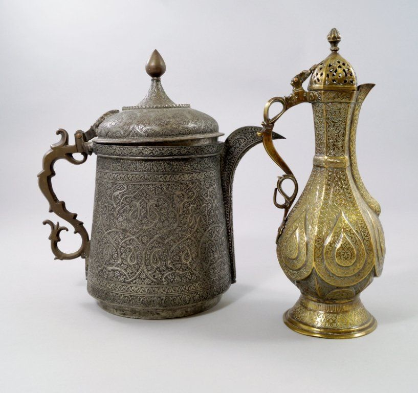 Muslims And Metalworkers A Day In Moradabad: An Islamic White Metal Ewer, Overall Decorated With