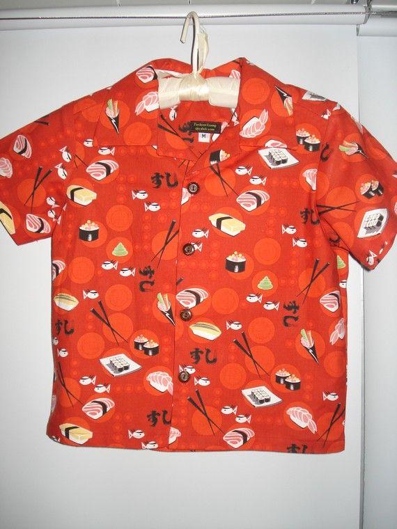 Sushi Print Aloha Shirt