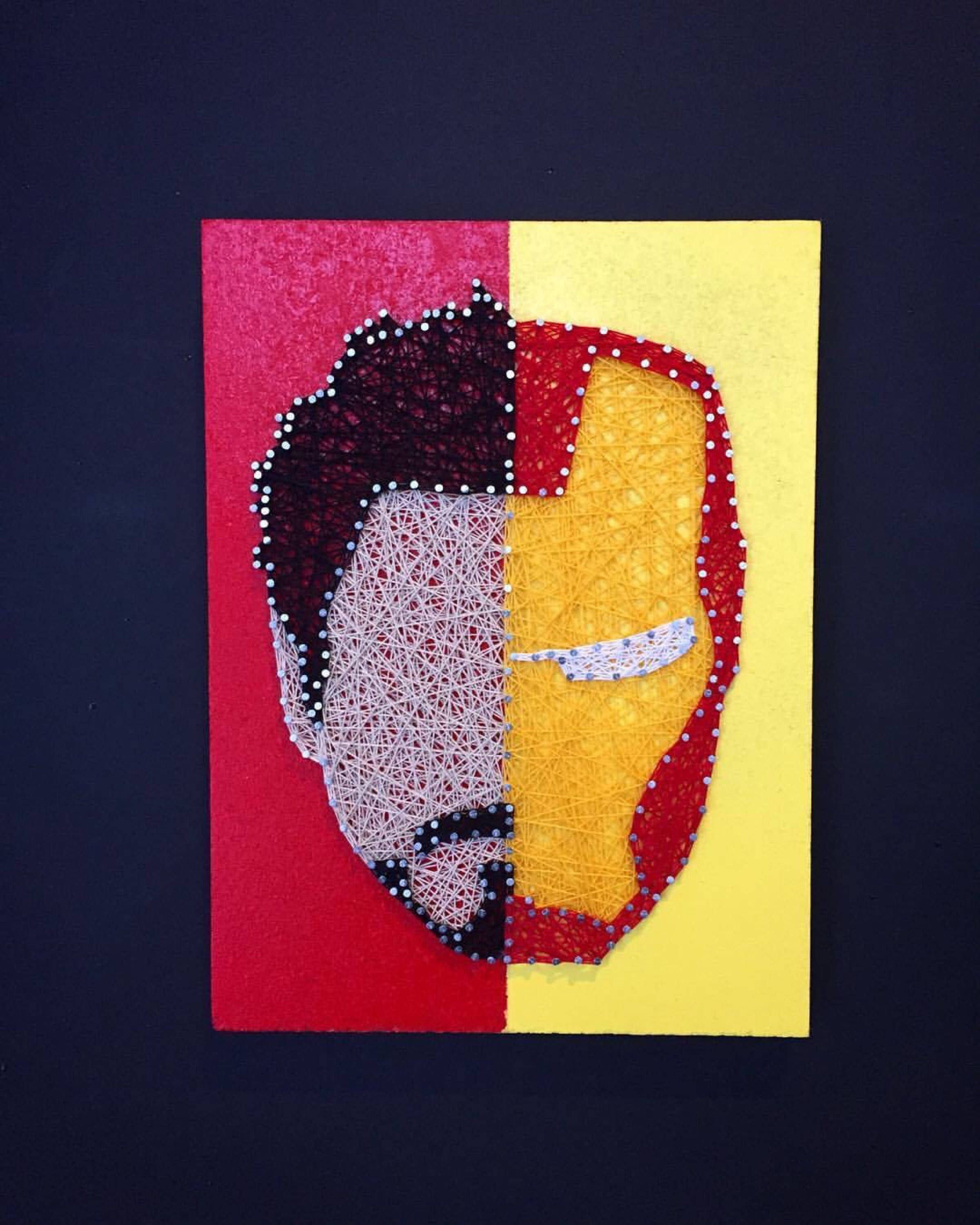 CUSTOM Marvel Character String Art, Iron Man Thread Art, Tony Stark ...