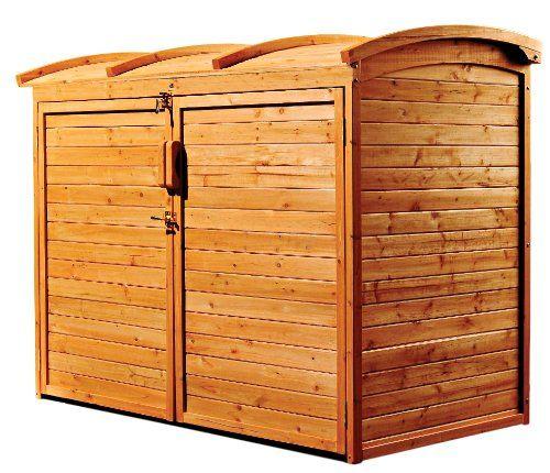 Amazon.com : Garbage Can Storage Shed : Outdoor Garbage Can Enclosures :  Patio,