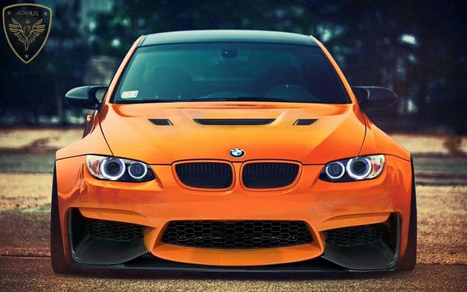 Bmw E92 M3 Orange Slammed Bmw M3 Bmw Orange Car
